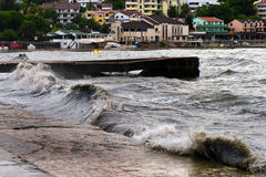 Sea Gale. Strong sea gale, Igalo, Montenegro Stock Photography