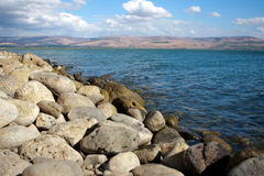 Sea of Galilee. Or Kineret lake in Israel Stock Photos