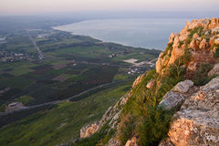 Sea of Galilee. The sea of Galilee as taken from Arbel mountain Stock Image