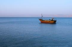 Sea of Galilee. Boat on the Sea of Galilee Stock Photo