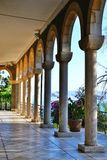 The Sea of Galilee and Church Of The Beatitudes, Israel, Sermon of the Mount of Jesus royalty free stock photography