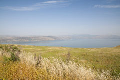 Sea of Galilee and the Golan Stock Image