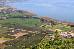 Sea of Galilee, Israel. View of the sea of Galilee (Kineret lake) from Arbel mountain, Israel Royalty Free Stock Photo