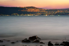 Sea of Galilee. Kinneret, the largest freshwater lake in Israel Royalty Free Stock Photography
