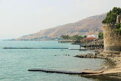 The sea of galilee lake kinneret stock images