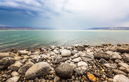 Sea of Galilee landscape. In summer day Royalty Free Stock Image