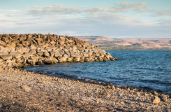Sea of Galilee. Taken from north part near Capernaum, Israel Royalty Free Stock Images