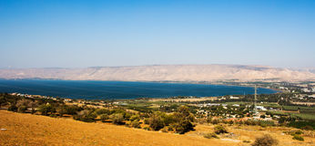 Sea of Galilee In Tiberias, Israel. Photo from above Royalty Free Stock Photography