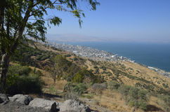 The Sea of Galilee and Tiberias Royalty Free Stock Photography
