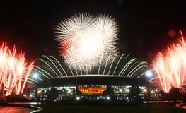 Sea games closing fireworks Stock Images