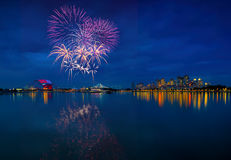 SEA games fireworks Royalty Free Stock Images