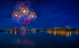 SEA games fireworks Stock Image
