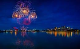 SEA games fireworks Stock Image