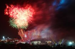 Sea games opening fireworks Stock Image