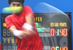 Sea games: tennis Royalty Free Stock Photo