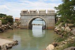 Sea gate defense Stock Photo