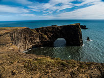 Sea gate. Great sea gate in southern Iceland Stock Images