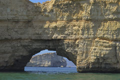 Sea gate in rock Stock Photo