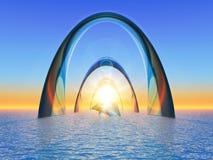 Sea gate royalty free illustration