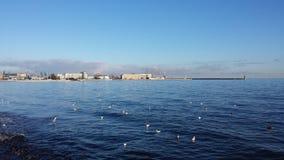 Sea in Gdynia, Poland Royalty Free Stock Photos