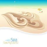 Sea Girl and Beach Holidays Royalty Free Stock Photo