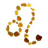 Sea glass astrological sign. Leo on white background stock photo
