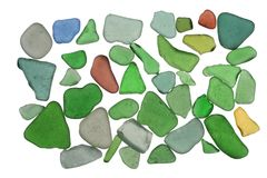 Sea glass background Stock Image