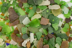 Sea glass background Royalty Free Stock Photos
