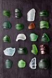 Sea glass bottlenecks Royalty Free Stock Images