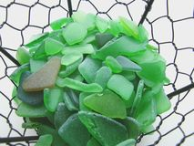 Sea glass closeup Royalty Free Stock Photo