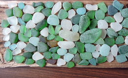 Sea glass pattern Royalty Free Stock Photography