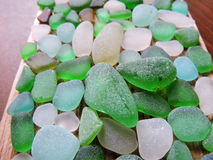 Sea glass pattern Stock Photo