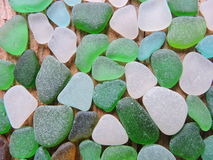 Sea glass pattern Royalty Free Stock Photos