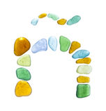 Sea glass peices on white Stock Images