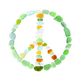 Sea glass symbols Stock Image
