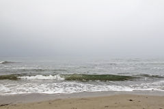 Sea on a gloomy day Royalty Free Stock Image