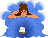 Sea goddess Stock Photography