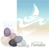 Sea Graphics Series Enjoy Spa in Bahamas Royalty Free Stock Image