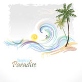 Sea Graphics Series - Hawaiian Surfing Royalty Free Stock Photo
