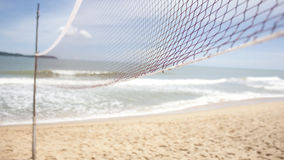Volleyball net on bleach Royalty Free Stock Photo
