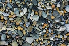Sea gravel pebbles. Close up royalty free stock photo