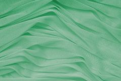 Sea-green drapery Royalty Free Stock Image