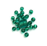 Sea green glass beads royalty free stock image