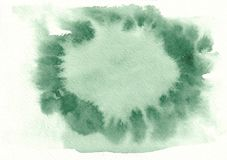 Sea green horizontal watercolor gradient hand drawn background. Middle part is lighter than other sides of image.  vector illustration