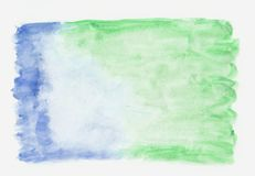 Sea green jade and dark blue mixed watercolor horizontal gradient background. It`s useful for greeting cards, valentines, lette. Rs. Abstract art style stock illustration