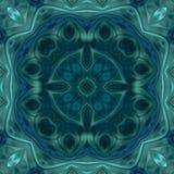 Sea green medallion wallpaper Stock Image