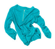 Sea-green pullover in motion in the air Stock Image