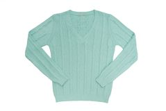 Sea-green sweater Royalty Free Stock Photos