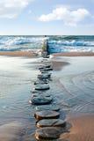 Sea groyne Stock Photo