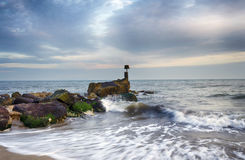 Sea Groyne Royalty Free Stock Image